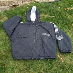 Vintage Adidas 90s Zip up Coat Size XL